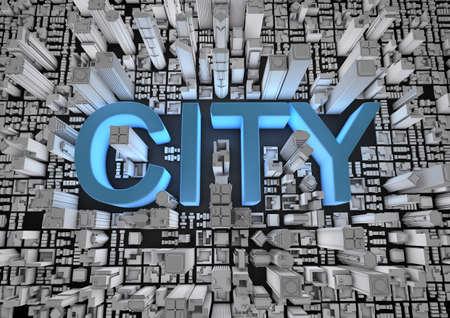 City text Stock Photo - 10435998