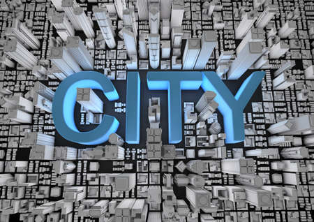 City text Stock Photo - 10435998