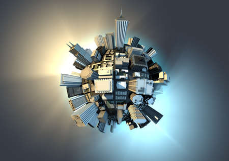 Planet city Stock Photo - 10436013