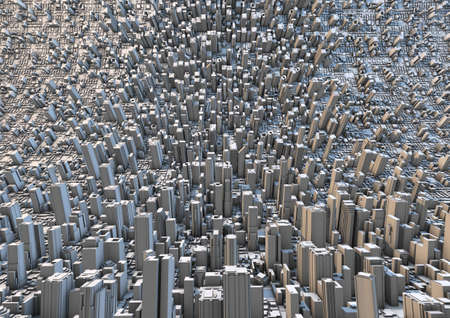 abstract curved city Stock Photo