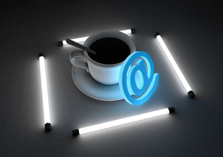cafe internet: Internet concepto de cafetería Foto de archivo