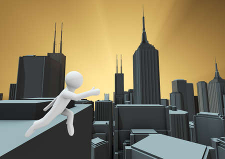 chasm: Leap of faith Stock Photo