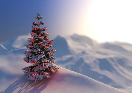 render of a serene christmas scene Stock Photo - 10703524