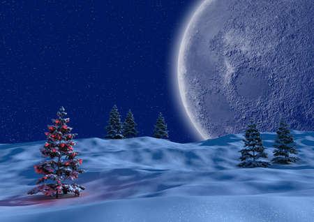 render of a serene christmas scene
