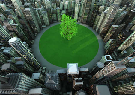 urbanization: City tree