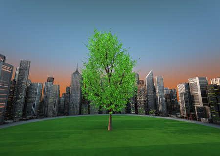 City tree Stock Photo - 10782406
