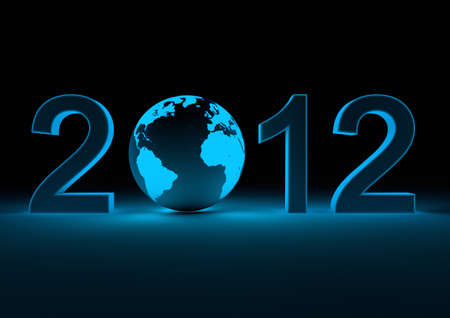render of the date 2012 and our planet as the 0 photo