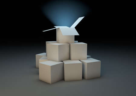 render of a group of boxes