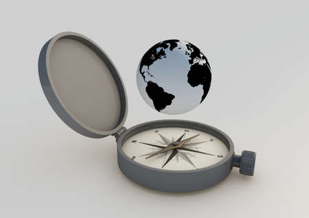 Abstract compass photo