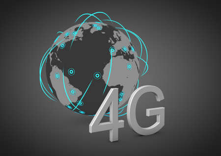 concept for a global 4g network Stock Photo - 12179032