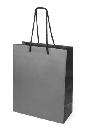 paperbag: Black beamless paper-bag with cords