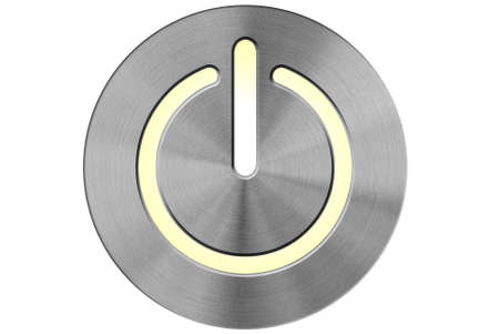 special steel: Circularly brushed stainless steel illuminated power switch.