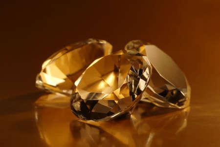 Macro detail of three jewels.
