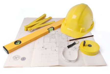 Architekten planen - Art Symbol Bild für Architektur