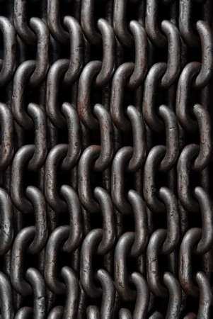 fetter: Old weathered industrial chain for use as background.