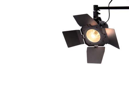 Studio Spot Light with hatches. Banco de Imagens