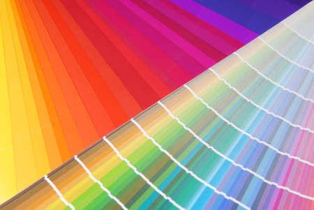 Farbmuster - Charakteristik Bild für die Pre-Press-und Druckindustrie.