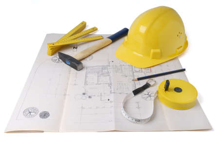 architect's plan - Characteristic symbol image for architecture and architects Stock Photo - 3441212