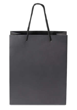 carryall: Black beamless paper-bag with cords.