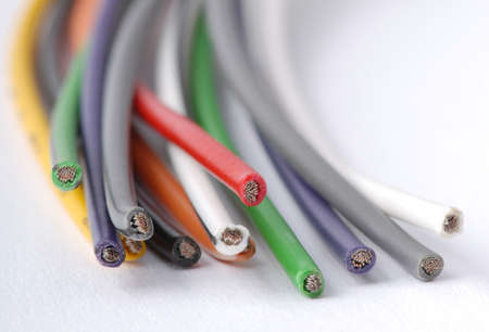 Macro detail of cables. Stock Photo - 3441186