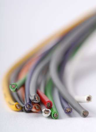 Macro detail of some cables. Stock Photo - 3441398