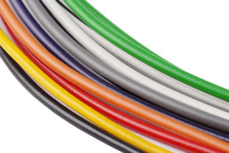 Macro detail of some cables. Stock Photo - 3441423