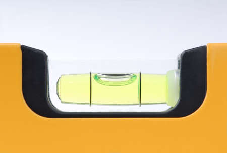 Macro detail of a spirit-level  with air bubble. 版權商用圖片