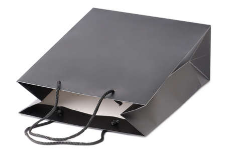 paperbag: Black beamless paper-bag with cords.