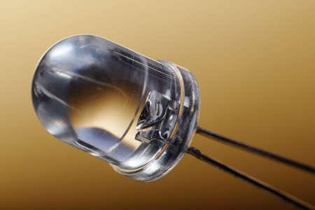 Macro detail of a transparent LED.