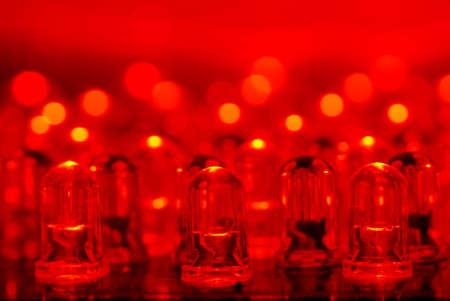 dozens: LED background with dozens transparent red LEDs