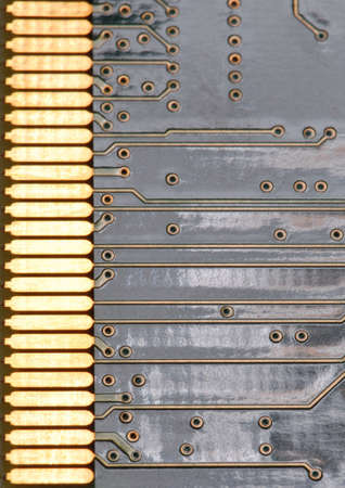 Macro detail of the board in a computer. 版權商用圖片