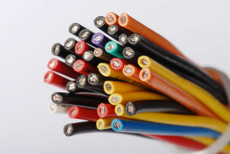 Macro detail of some cables. Stock Photo - 3476644