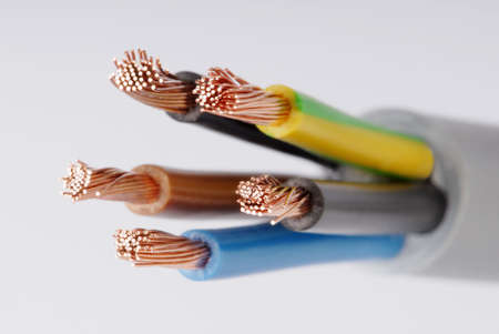 Macro Details eines Kabels. Lizenzfreie Bilder