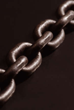 Old weathered industrial steel chain photo