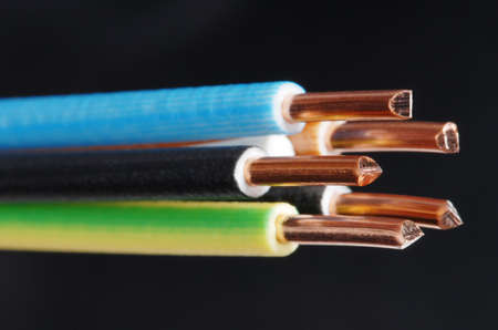 Macro detail of a cable. Stock Photo - 3485223