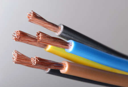 Macro detail of a cable.