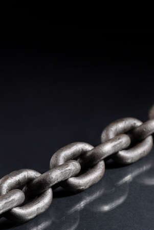 Old weathered industrial steel chain