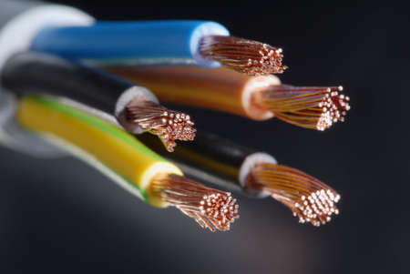 Macro detail of some cables.