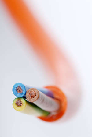 lagging: Macro detail of some cables.