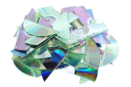destruct: Destroyed CDs - shredded by a shredder.