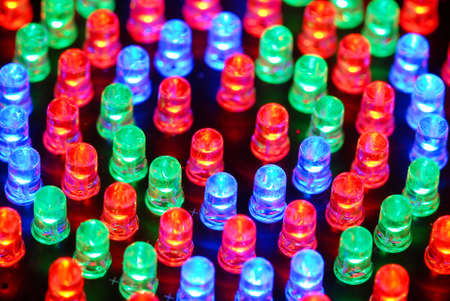 Colorful LED background with dozens transparent LEDs. 版權商用圖片