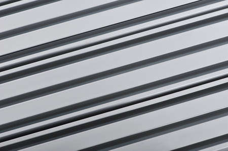 routed: abstract made of aluminum sectional strips Stock Photo