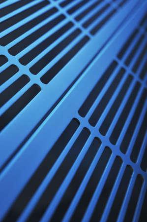 abstract industrie gemaakt van aluminium ventilatieroosters Stockfoto