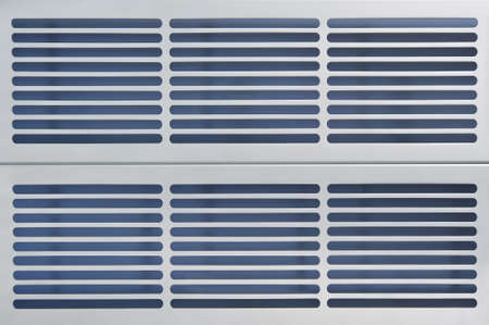 routed: abstract industry made of aluminum ventilation grids Stock Photo