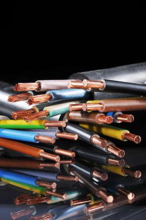 不同的剝離電力電纜宏詳細 版權商用圖片