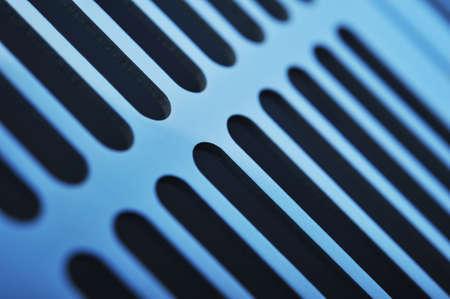 abstracte industrie van aluminium ventilatieroosters Stockfoto