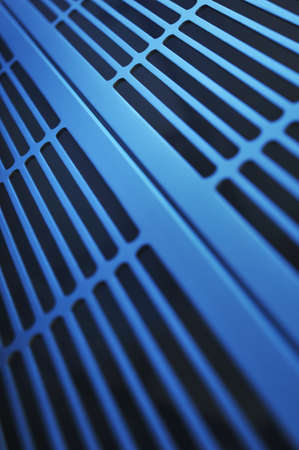 routed: abstract industry background made of aluminum ventilation grids
