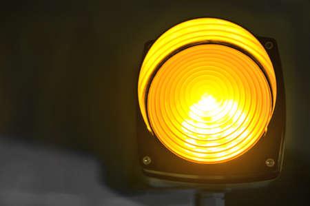 telltale: yellow glowing signal light