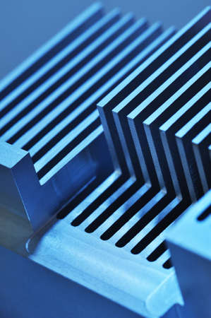 routed: Stylised industrial background - showing detail of an CNC manufactured aluminum cooling plate