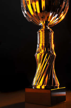 exceptionally: detail of a chromed trophy in exceptionally light